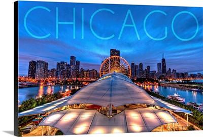 Chicago, Illinois, Navy Pier and Skyline