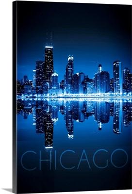 Chicago, Illinois, Skyline at Night