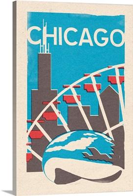 Chicago, Illinois, Woodblock