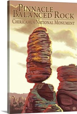 Chiricahua National Monument - Pinnacle Balanced Rock: Retro Travel Poster