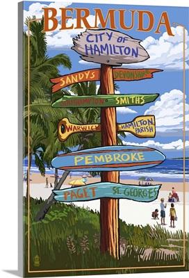 City of Hamilton, Bermuda, Destination Sign