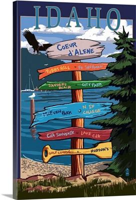 Coeur D'Alene, Idaho, Destination Signpost