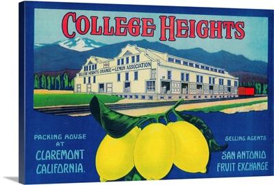 College Heights Lemon Label, Claremont, CA