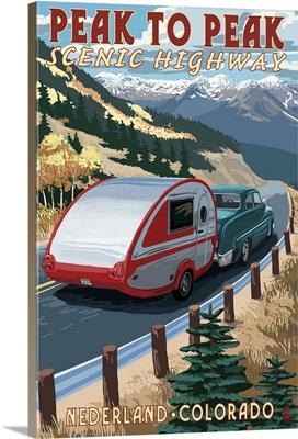 Colorado - Fall Retro Camper: Retro Travel Poster