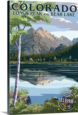 Colorado, Longs Peak and Bear Lake Summer, Rubber Stamp