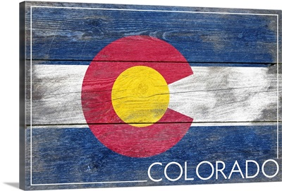 Colorado State Flag, Barnwood Painting