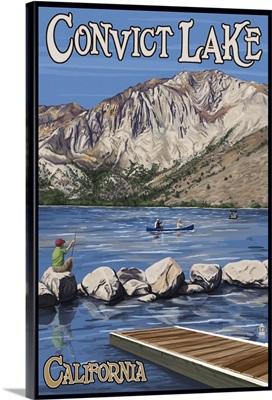 Convict Lake, California Scene: Retro Travel Poster
