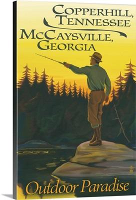Copperhill, TN and McCaysville, GA, Fisherman Scene