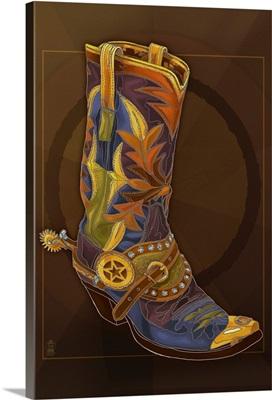 Cowboy Boot: Retro Poster Art