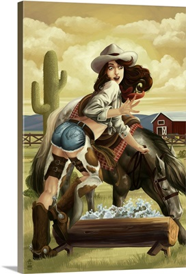 Cowgirl Pinup: Retro Poster Art
