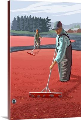 Cranberry Harvest: Retro Poster Art