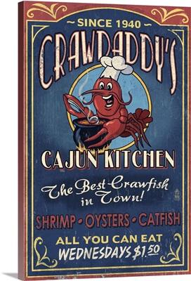 Crawfish, Vintage Sign