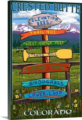 Crested Butte, Colorado, Destination Signpost