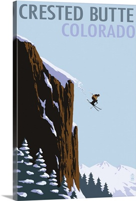 Crested Butte, Colorado, Skier Jumping