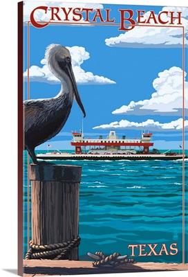 Crystal Beach, Texas, Pelican and Ferry