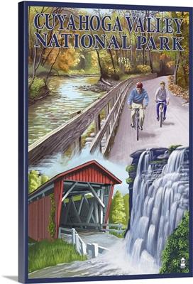 Cuyahoga Valley National Park, Ohio Views: Retro Travel Poster
