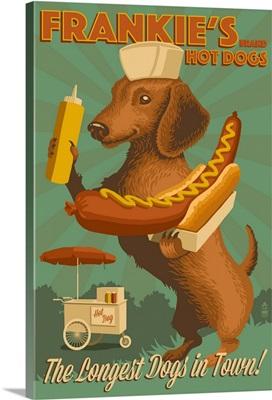 Dachshund, Retro Hotdog Ad
