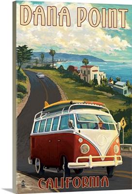 Dana Point, California - VW Coastal: Retro Travel Poster