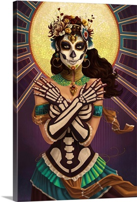 Day of the Dead - Crossbones: Retro Poster Art