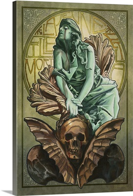 Death and the Maiden: Retro Art Poster