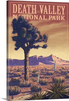 Death Valley National Park - Joshua Tree: Retro Travel Poster