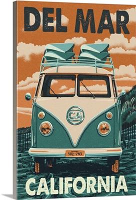 Del Mar, California, VW Van