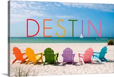 Destin, Florida, Colorful Beach Chairs