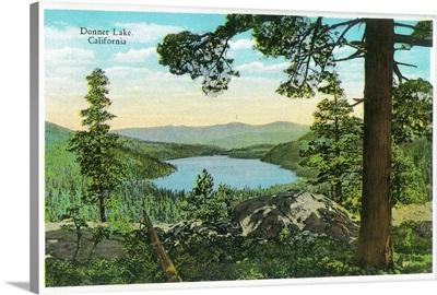 Donner Lake, California from Ridge