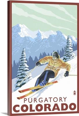 Downhill Skier, Purgatory, Colorado