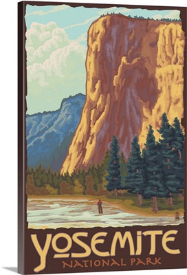 El Capitan Yosemite: Retro Travel Poster