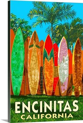 Encinitas, California, Surfboard Fence