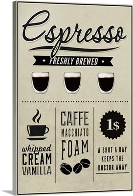 Espresso Freshly Brewed (cream)