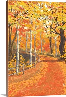 Fall Colors: Retro Poster Art