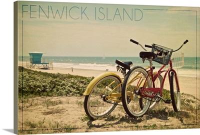 Fenwick Island, Delaware, Bicycles and Beach Scene