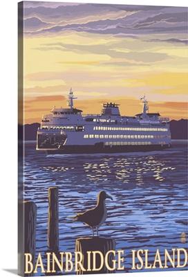 Ferry and Sunset, Bainbridge Island, Washington