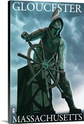 Fisherman's Memorial - Gloucester, Massachusetts: Retro Travel Poster