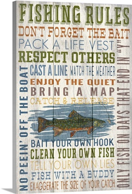 Fishing Rules Typography