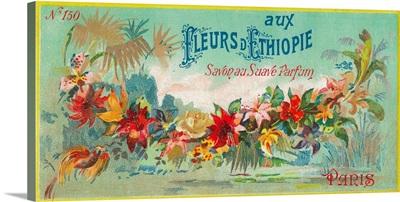 Fleurs D'Ethiopie Soap Label, Paris, France