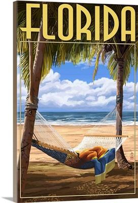 Florida - Hammock Scene: Retro Travel Poster