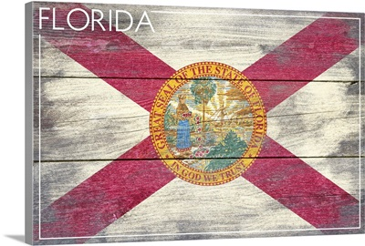 Florida State Flag, Barnwood Painting