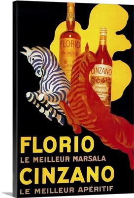 Florio Cinzano Vintage Poster, Europe