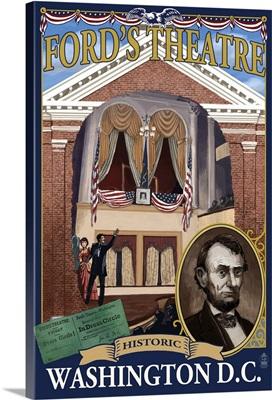 Ford's Theatre - Washington, DC: Retro Travel Poster