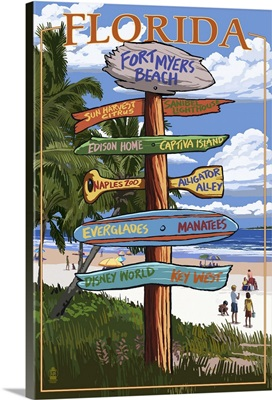 Fort Myers Beach, Florida, Destination Signs