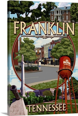 Franklin, Tennessee - Montage: Retro Travel Poster