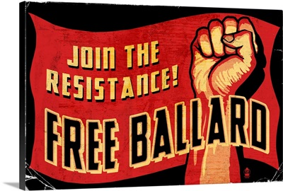 Free Ballard: Retro Art Poster