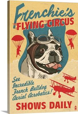 French Bulldog, Retro Flying Circus Ad