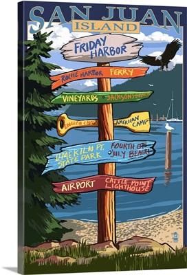 Friday Harbor, San Juan Island, Washington, Destination Sign