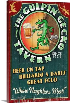 Gecko Tavern, Vintage Sign