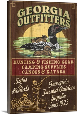 Georgia - Loon Outfitters Vintage Sign: Retro Travel Poster