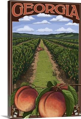 Georgia, Peach Orchard
